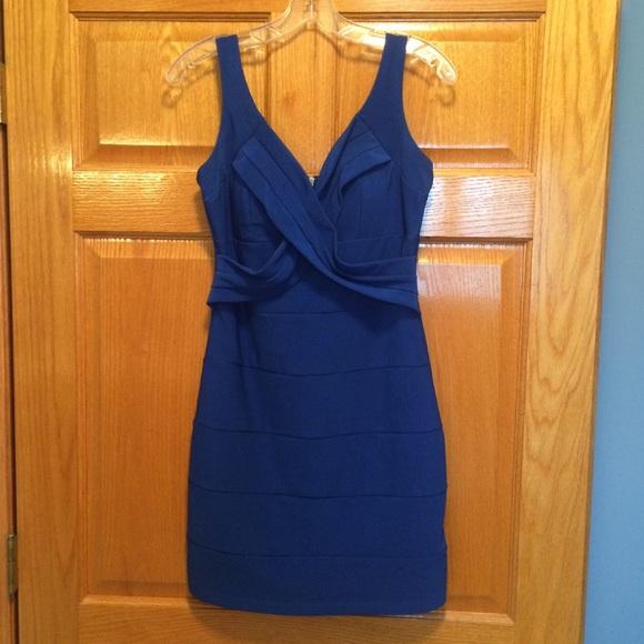 a683bf7c7e8 Emerald Sundae Dresses   Skirts - Emerald Sundae blue v neck bodycon dress